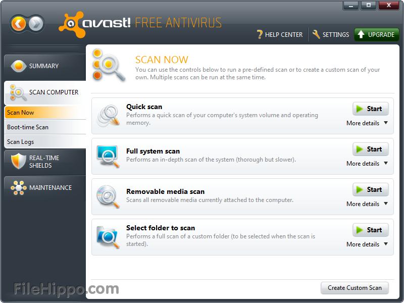 avast free windows 10